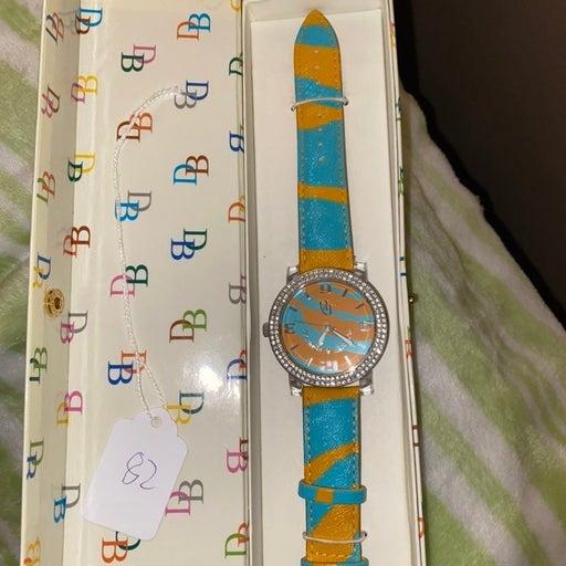 Dooney & Bourke blue/orange Woman's Watch
