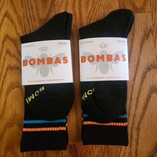 2 pairs bombas medium crew socks