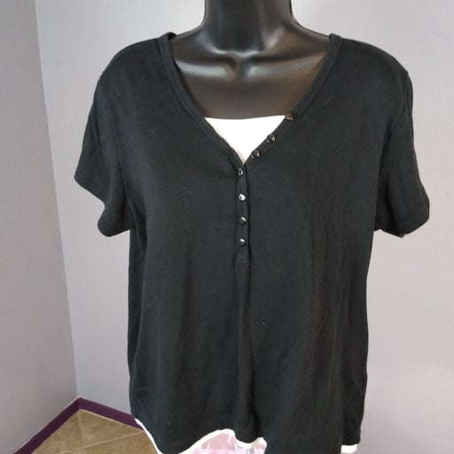 Crystal Kobe xl black blouse