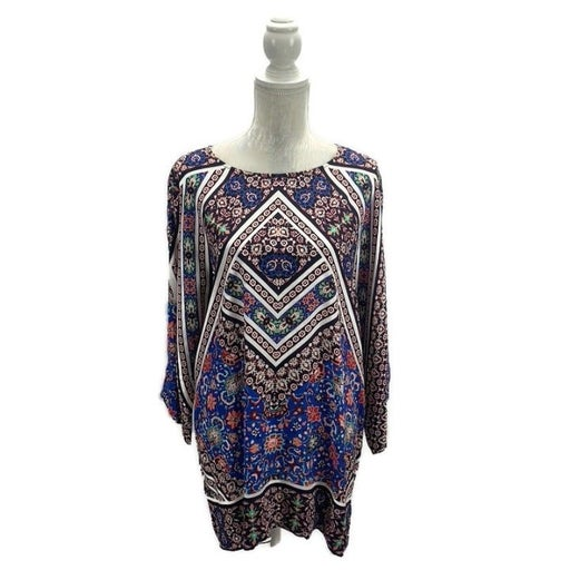 Cremieux Mixed Print Kimono Sleeve Tunic