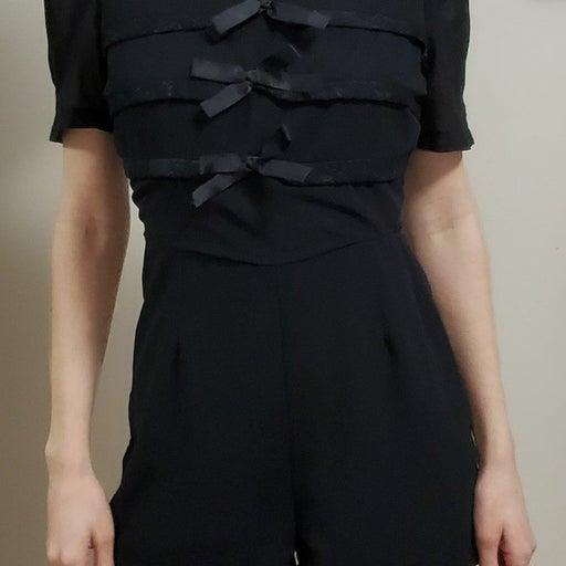 AX Paris Black Romper - Size 8 - New