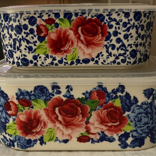 Pioneer Woman Nesting Bowls/Baker with Lids