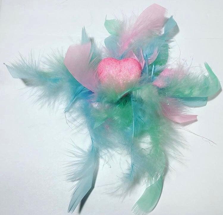 Pastel Feather Hair Fascinator