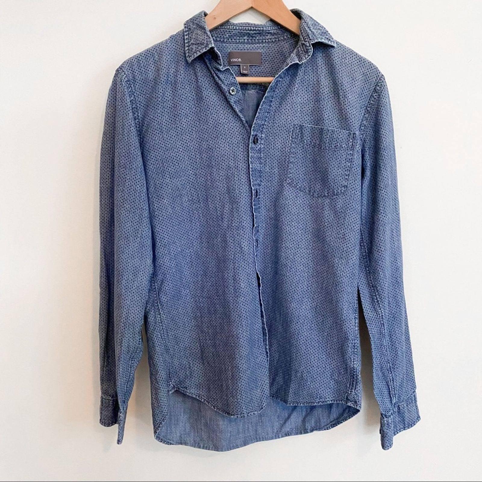 Vince Cotton Button Down Shirt Size S