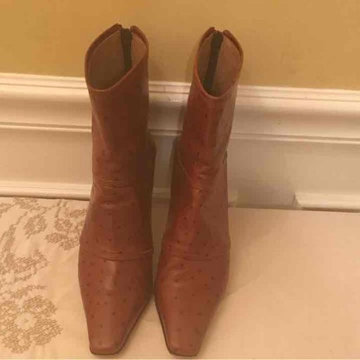 Custom Made Ostrich leather ankle boots