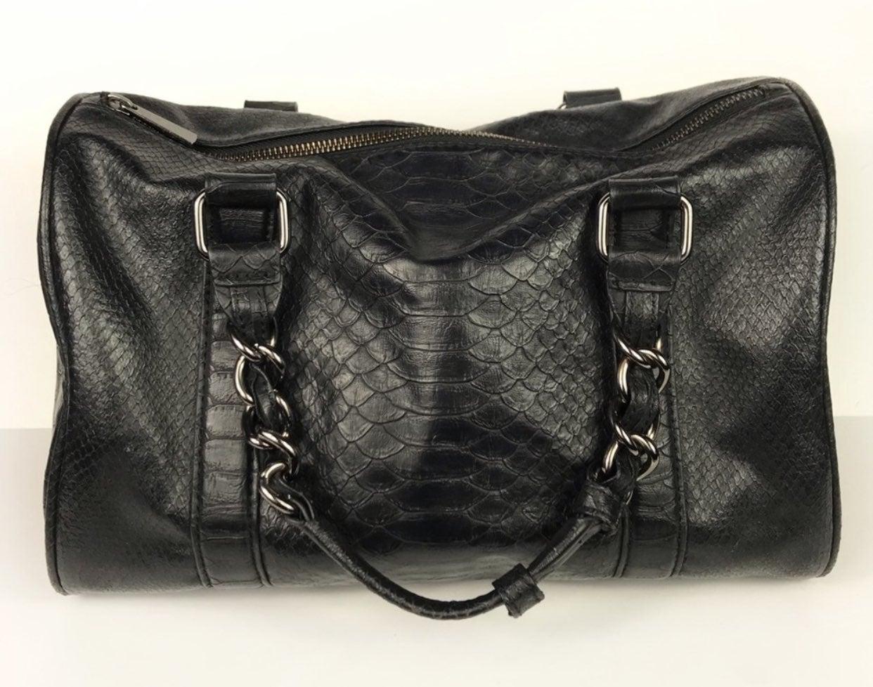 Express Faux Leather Reptile Satchel Bag