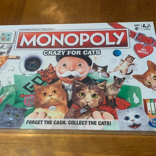 Monopoly Crazy For Cats Board Game