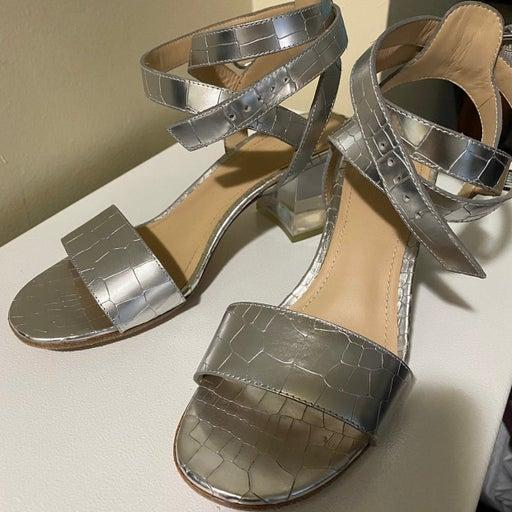 Pour La Victoire Metallic Dress Sandals.
