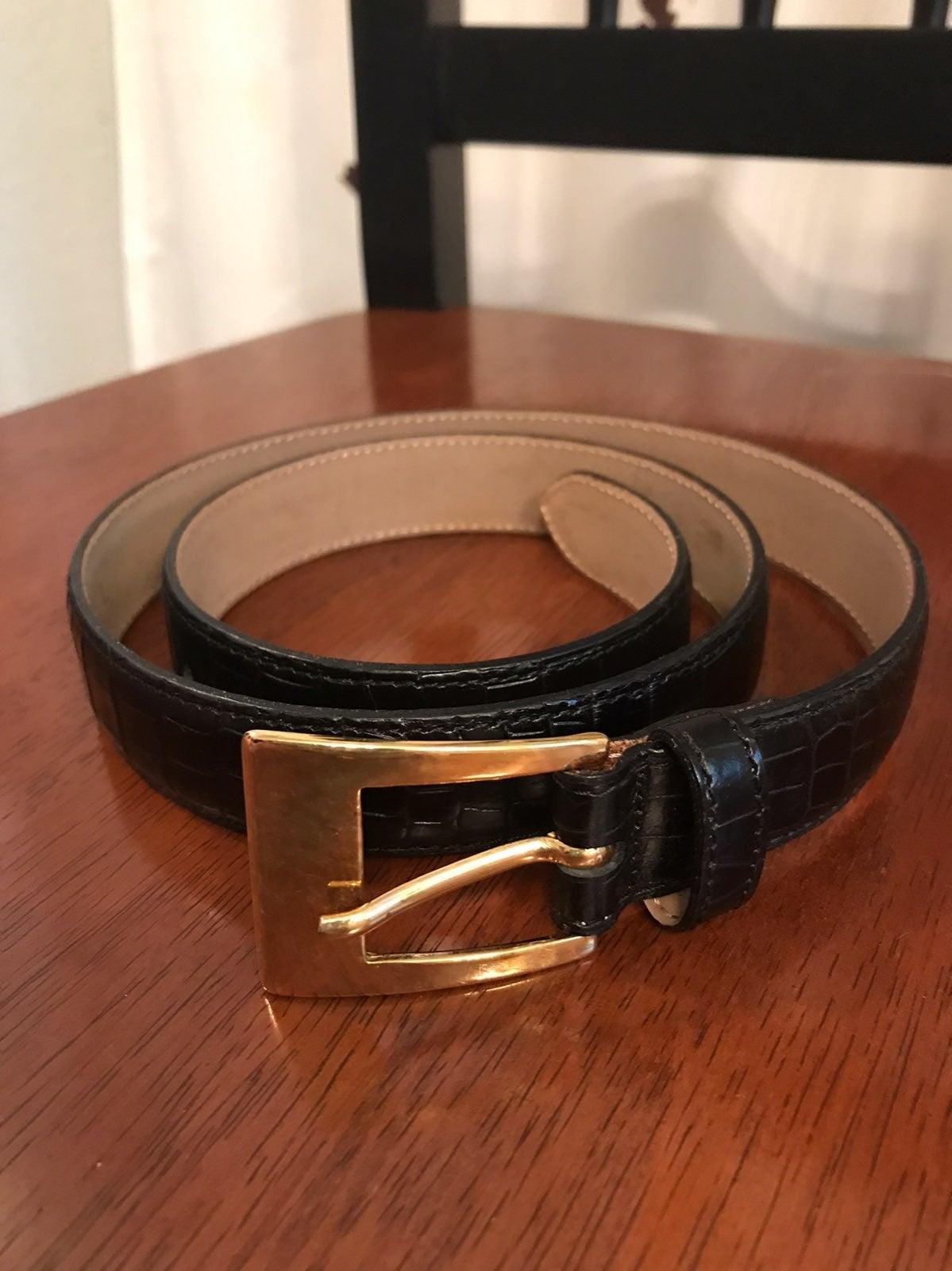 Talbots croc black belt