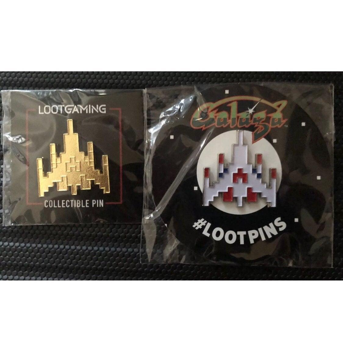 Atari GALAGA Gold And Original Rare Pins