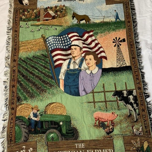 The American Farmer Tapestry Throw