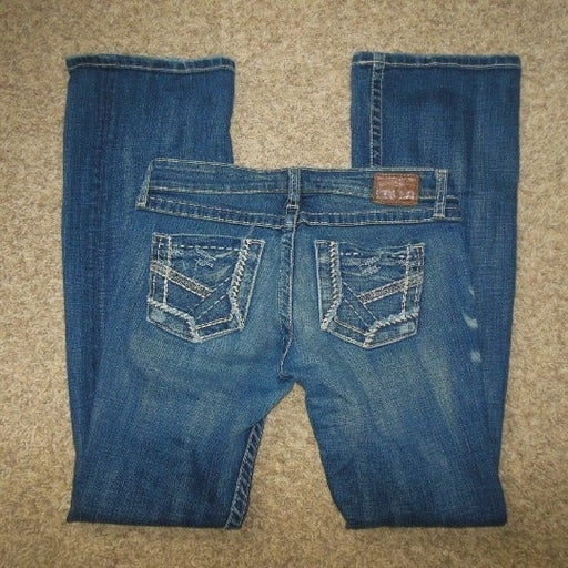 BKE Stella 28X33 Whiskered Jeans Stretch