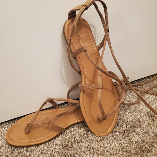 Brown gladiator style sandals