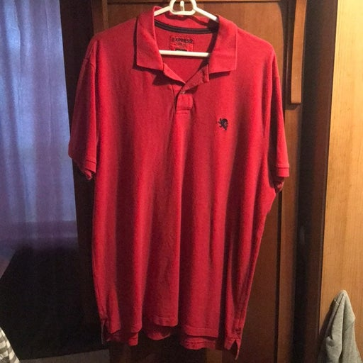 red Express polo shirt