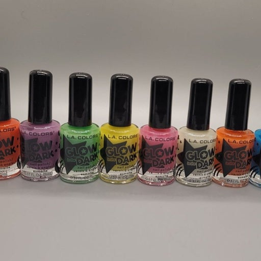 GLOW N THE DARK Halloween nail polishes