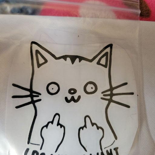 I do what I want Cat decal