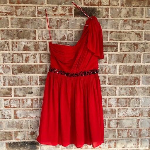 Jessica Simpson Red Jewel Cocktail Dress