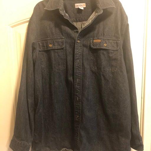 Carhartt Large Tall Jean button down