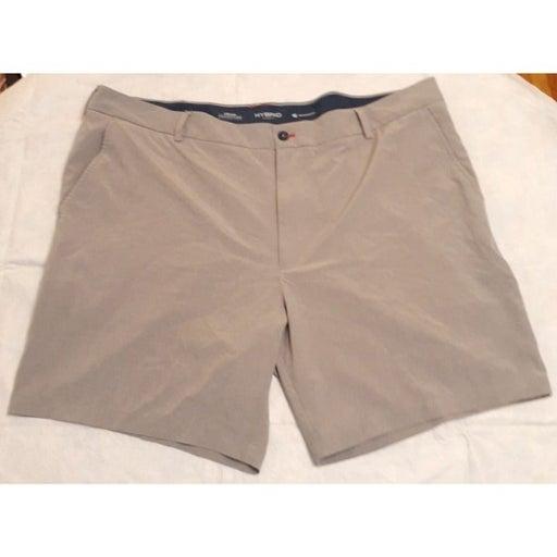Izod Advantage Performance Hybrid Shorts 46 Golf Athletic Grey Big Tall Mens Poc