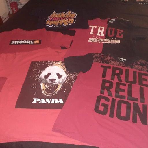 Mens Nike & True Religion T Shirt Lot L