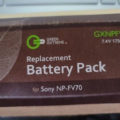 Green Machine Sony NP-FV70 battery