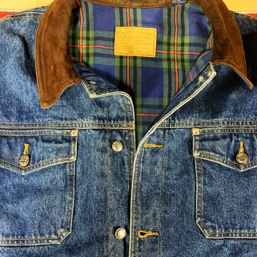 Like new jean jacket men by G.H. Bass &