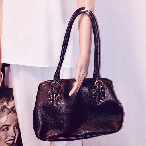 womens brown leather satchel