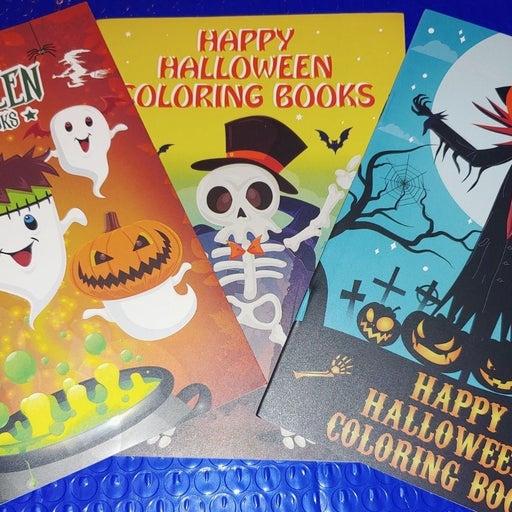 3 Halloween Coloring Books