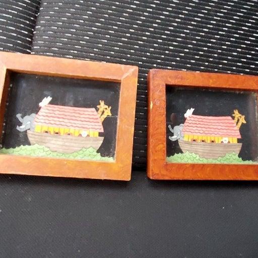 Noah's ark paintings small x2