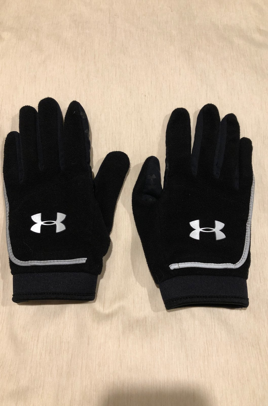 Under Armour fleece womens black gloves