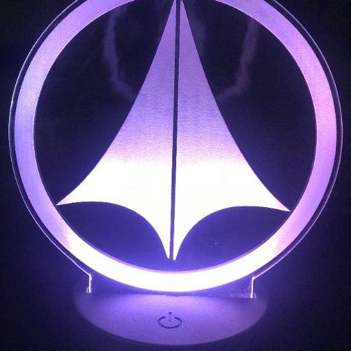 "Macross 6"" Custom UN Spacey Laser Engraved 3D Effect Acrylic LED Night Lamp"