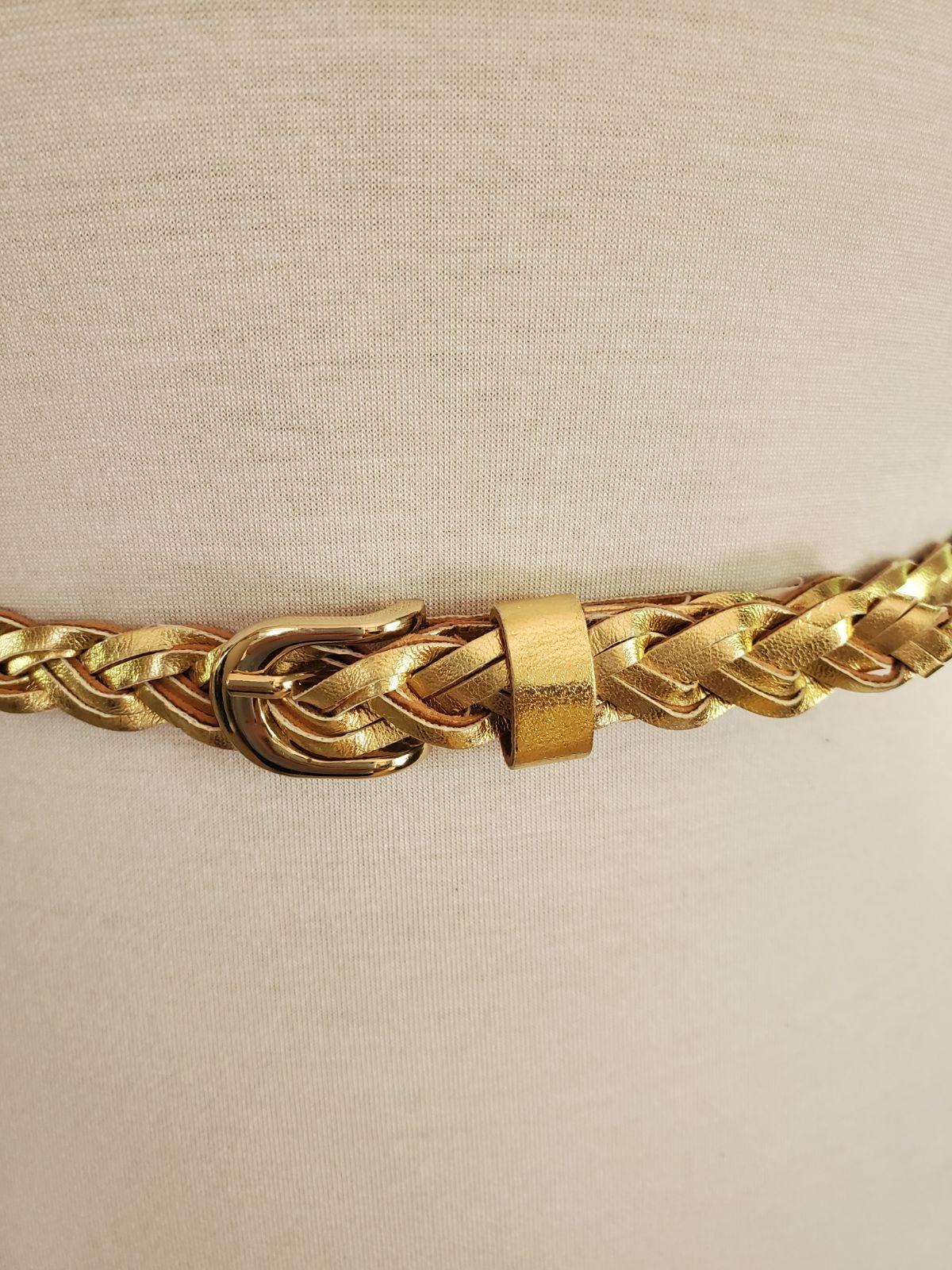 belt,women NWOT‼️faux gold leather Sz. S