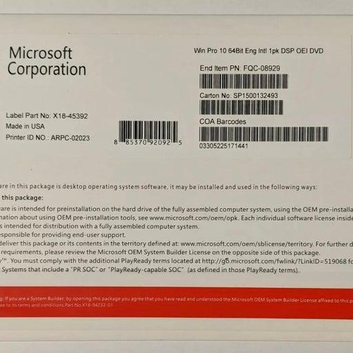 ✅GENUINE Windows 10 Pro 64 Bit Full Version DVD & product Key-Sealed Brand New✅.