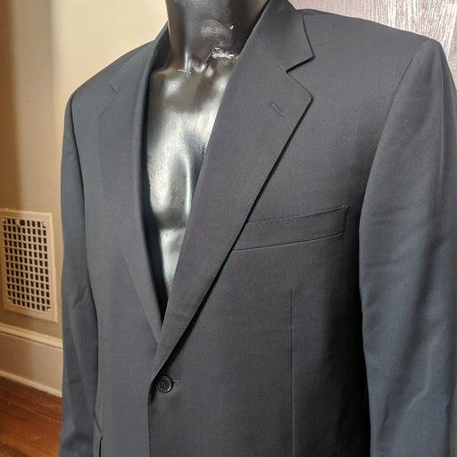 Canali BEAUTIFUL black wool 2pc suit