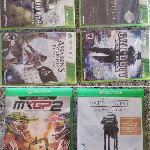 6 Xbox Games. (4 new unopened, 2 opened)