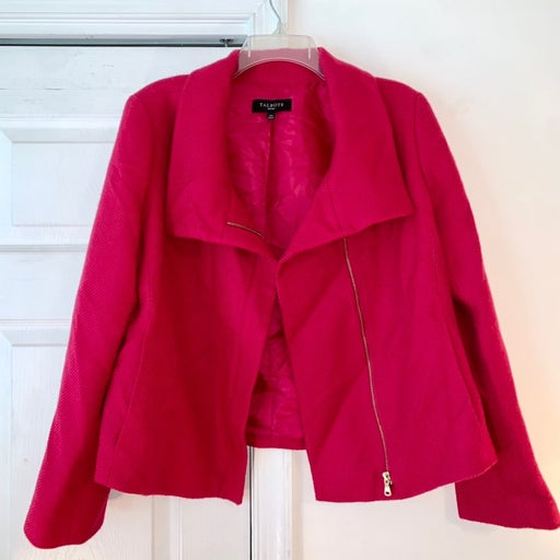 Talbots hot pink wool coat size 14P
