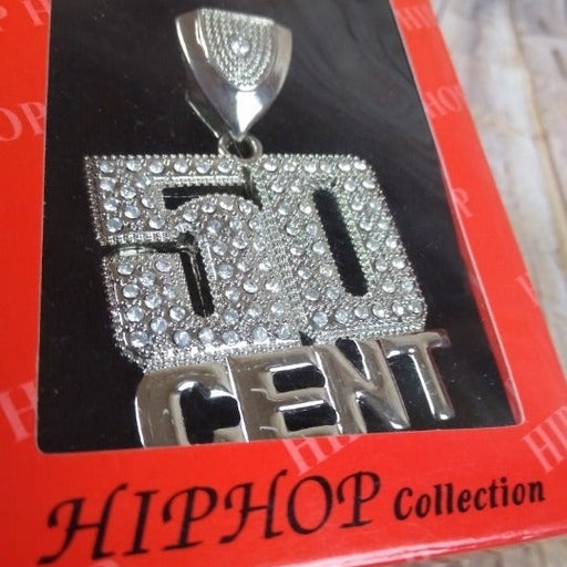 Fiddy 50 Cent ICED HIPHOP SILVER PENDANT