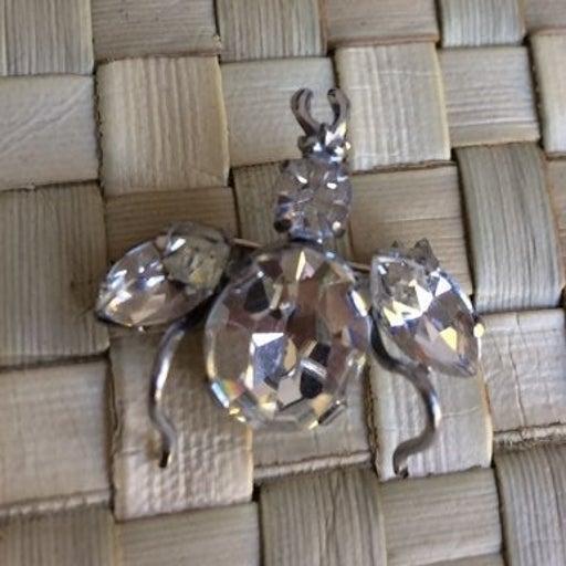 VTG Austrian Crystal Beetle Brooch