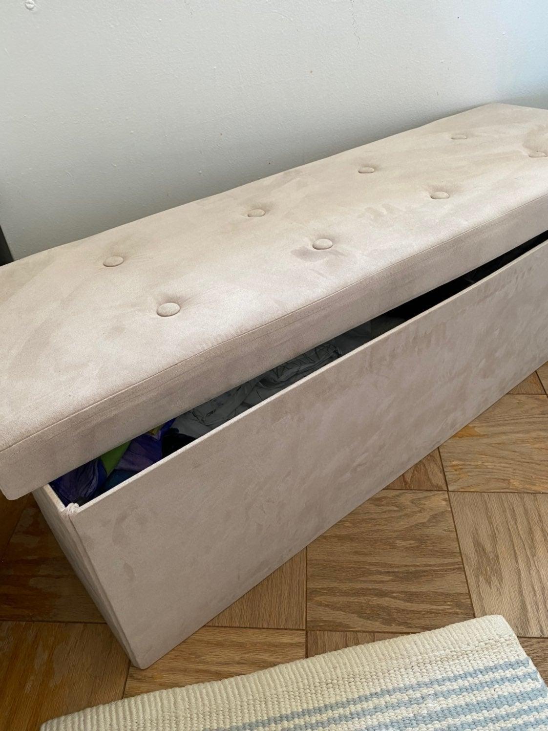 storage ottoman long bench