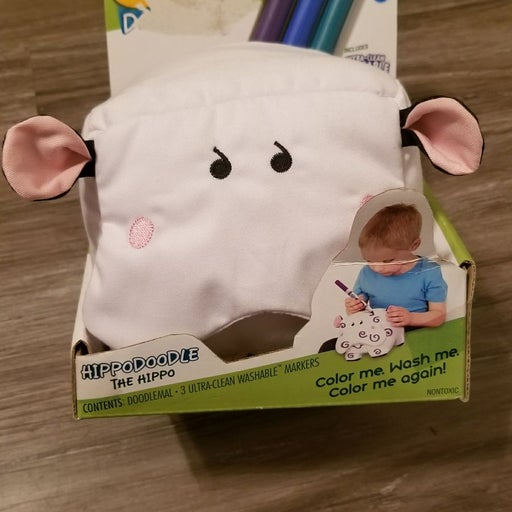 Doodlemals hippo plush toy