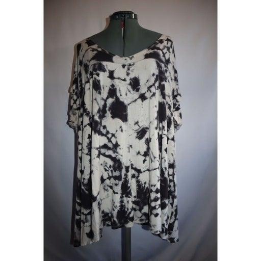 Cynthia Rowley SZ 3X Tie Dye 3/4 Sleeve Top