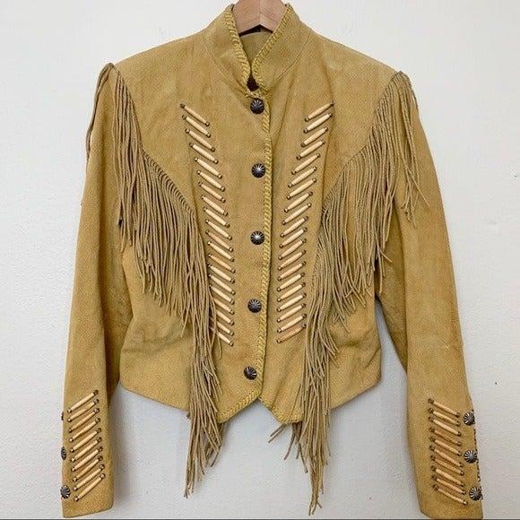 VINTAGE CRIPPLE CREEK M suede jacket w/f