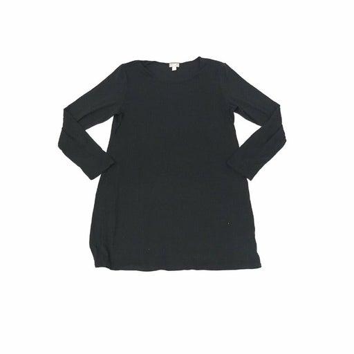 J.Jill Wearever Collection Tunic Top Womens Medium Black Rayon Spandex