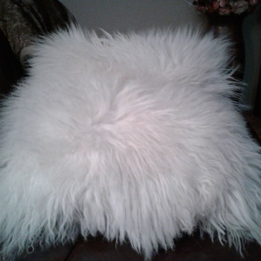 Real mongolian fur throw Pillows,pair