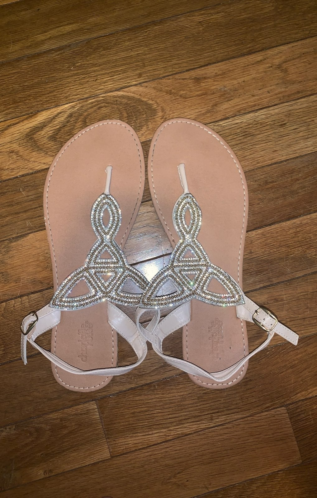 beaded silver and gold sandals