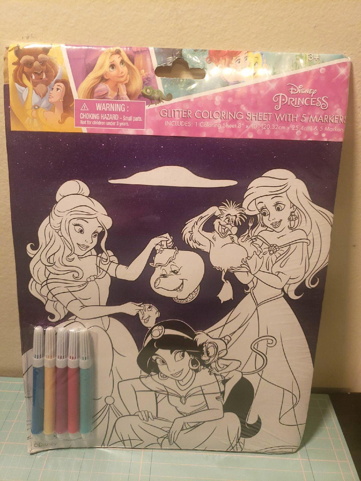 Glitter Coloring Sheet