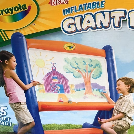 Inflatable giant easel and four Paints