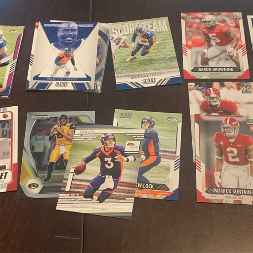 Denver Broncos 31 card lot: 5 Jerry Juedy Rookie Cards 2 Patrick Surtain