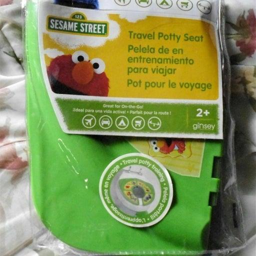 Sesame Street Framed Friends Green Folding Travel Potty Seat-New