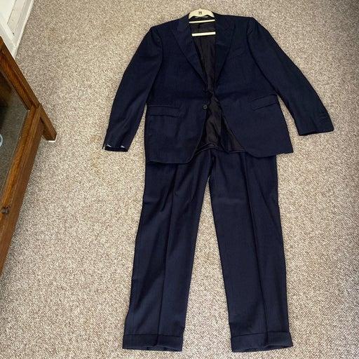 Italian canali mens navy pinstripe suit